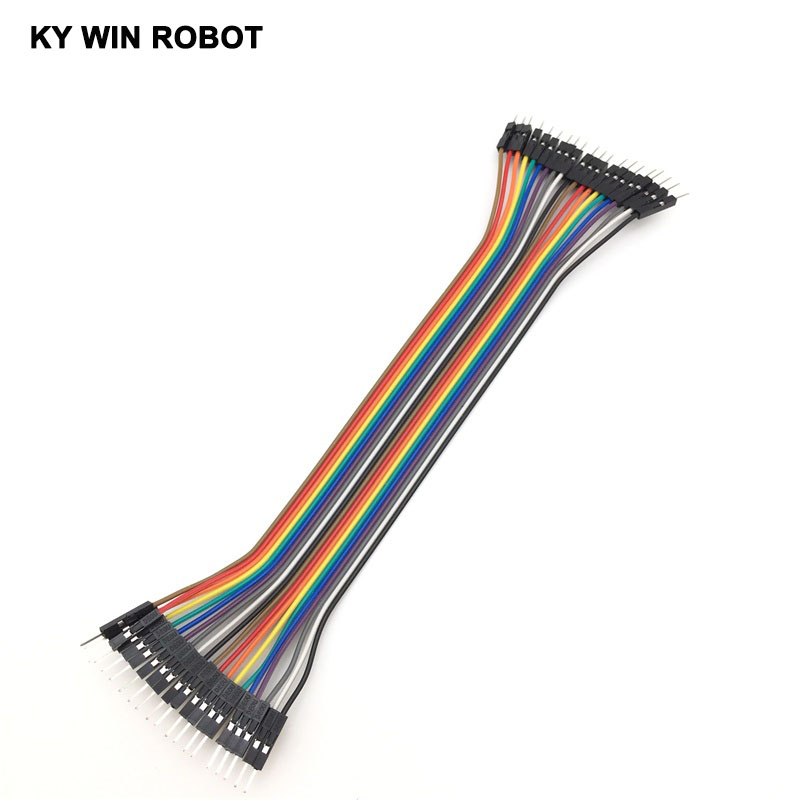DuPont line 20pcs 20cm 2.54mm 1p-1p Pin Male Male Color Breadboard Cable Jump Wire Jumper Arduino