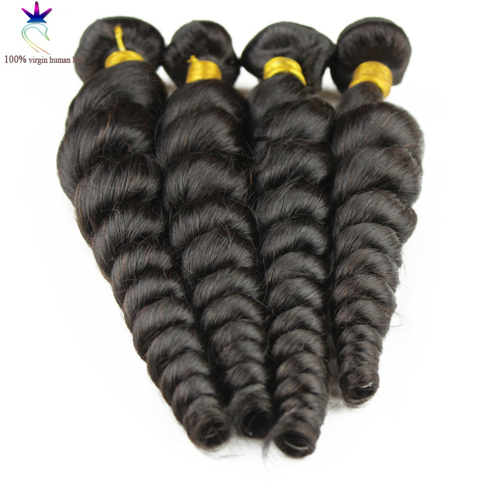 1pc peruvian virgin hair loose wave human hair weaves natural black peruvian loose hair bundles extensions 100g/pc 8-30 inch<br><br>Aliexpress