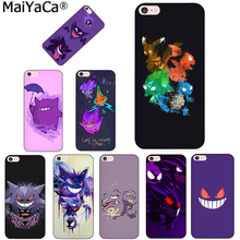 MaiYaCa Pokemons Go Gengar Sinister Nebula Diy Cell Phone Protective phone Case for Apple iPhone 8 7 6 6S Plus X 5 5S SE 5C case(China)