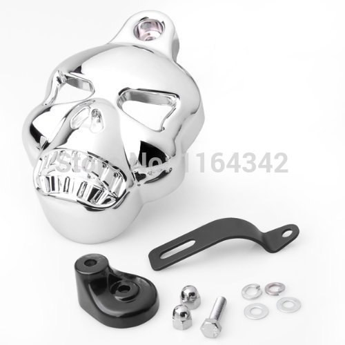 Motorcycle Parts Chrome Skull Horn Carburetor Cover for Harley Davidson Big Twins V-Rods Stock Cowbell 1992-2013<br><br>Aliexpress