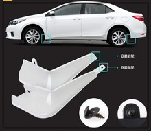 Higher star PP material 4pcs color car Mudguards,mud guard,fenderboard for Toyota Corolla 2014-2017(China)