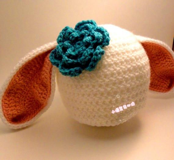 婴儿帽子的钩法小猪帽