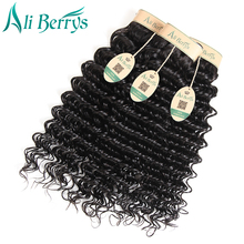 Ali Berrys Hair Peruvian Deep Wave Remy Hair Bundles 8-28 Inches Deep Wave Peruvian Human Hair Bundles Natural Color Curly Weave