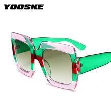 YOOSKE Oversized Square Sunglasses Women Brand Designer Clear Lenses Sun Glasses Female Three Colors Big Frame Party Eye Glasses(China)