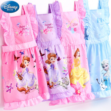 Disney Princess Baby Bibs Waterproof Newborn Burp Cloths Baby Painting Eating Feeding Fashion Baby Bib Overclothes Apron(China)