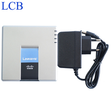Unlocked Linksys SPA2102 VoIP Voice FXS LAN WAN Port Router Phone Adapter Without Original Box