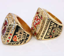 2Pcs/Set! 2017 Hot Crazy NCAA 2015 2016 Alabama Crimson Tide Football National Championship Ring Replica Drop Shipping(China)