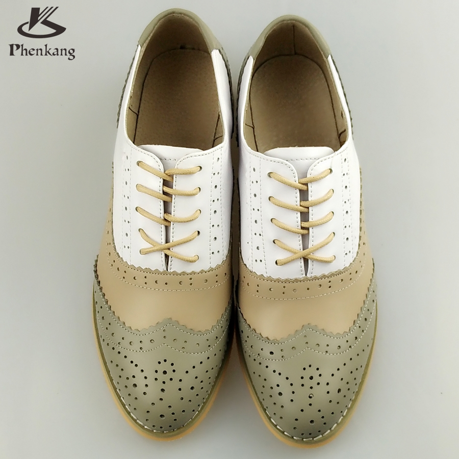 Genuine leather round toe flats handmade shoes woman US size 11 vintage 2017 sping oxford shoes for women grey beige white fur<br><br>Aliexpress