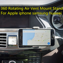 360 Degree Universal Car Holder Air Vent Mount Stand Cradle Support Telephone Mobile Car For apple samsung Car Holder Stand