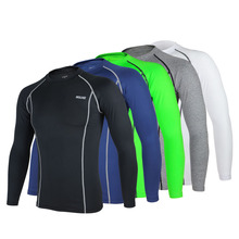 Cycling Long Sleeve Shirt Sports Running Bicycle Baselayer Underwear Long Sleeve Jersey Quick Dry Shirt for Men 5 Colors(China)