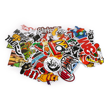 50 pcs Funny Car Sticker on Suitcase Home Phone Laptop DIY Vinyl Decal Stickers Bomb JDM Car styling Motorbike Accessories