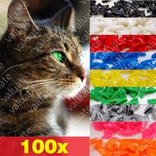 100pcs Value Soft Nail Caps for Cats with 5x Adhesive Glue and 5x Applicator, size XS, S, M, L, claw, cover, paw, wgy(China)