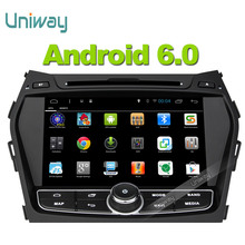 Uniway  android 6.0 car dvd player for Hyundai Santa FE IX45 2013 2014 built in wifi RDS navigation system