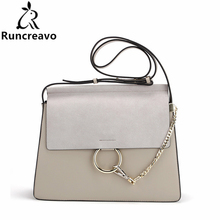 2018 Hot Sale Popular Fashion Brand Design Women Genuine Leather Cloe Bag High Quality Real Cowskin Shoulder Bag Chain Organ Bag(China)