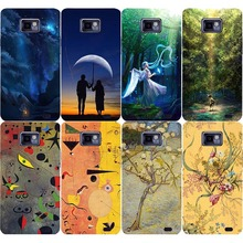 Cell Phone Skins Cases For Samsung Galaxy S2 i9100 I9100M / S2 Plus I9105 I9105P Angel Oil Painting Hard PC Cover Phone Case(China)