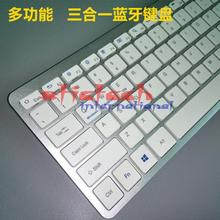by dhl or ems 50pcs Bluetooth 3.0 Waterproof Wireless Keyboard For Apple iPad Series/Mac Book/Smart Phones(China)