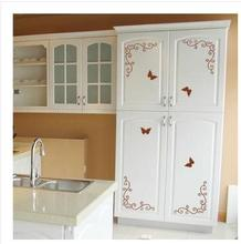 Continental Corner Flower Furniture Wardrobe Cupboard Door Stickers Fridge Magnet Sticker Shop Window Glass Decoration