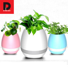 Dehomy Smart LED Music Flower Pot Speaker Wireless Mini Touch Sensing Flower Pot Fashion FlowerPot Colorful Led Night Light Lamp(China)