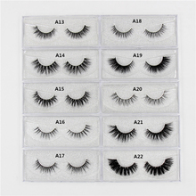 1Pair Lashes False Eyelashes Natural Makeup 3d Mink Lashes Eyelash Extension Make Up real siberian mink strip eyelashes A01(China)