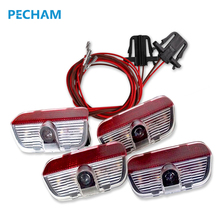 4 pcs LED Door 3D shadow Car light logo Auto lamp with projection function for VW TIGUAN CC Golf MK6 JETTA MK5 PASSAT B6 B7(China)