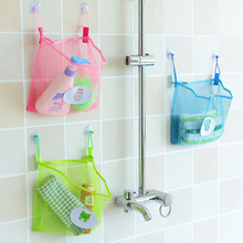 2017 Fashion Baby Bath Toy Mesh Storage Bag Bathtub Doll Basket Organizer Suction Bathroom Stuff Net