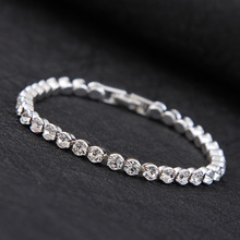 Fashion Charm CZ Bracelets For Women Silver Color Tennis Bracelets Crystal Wedding Party Jewelry Pulseira Femina