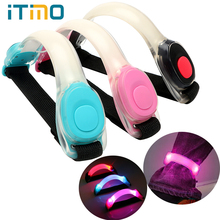 ITimo Safety Creative Outdoor Sports Night Light 2 Modes LED Wrist Arm Strap Running Light Waterproof Warning for Bicycle Riding(China)