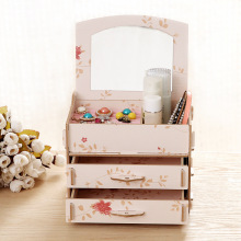 Mi Xiuer, the new M212 manufacturers with mirror DIY wooden clamshell box ring earrings jewelry box