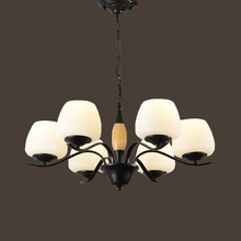 HGHomeart 110V/220V E27 Spiral Iron Classic Contemporary Chandeliers LED Living Room Chandelier Baby Suspension Lamp  Lighting