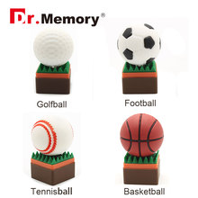 ball usb flash drive 64g pen drive 32g pendrive 16g 8g 4g golf ball basketball tennis ball pendrive Usb2.0 creative gift