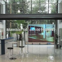 Hot !! 1.524m*4m magic self adhesive shop window advertising holographic screen film, rear projection film, free shipping !