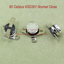 Buy 10pcs/lot KSD301 Thermostat Normally Normal Close 80 Degrees Celsius Thermostat Switches NC Temperature Switch for $3.42 in AliExpress store