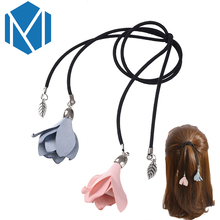 M MISM New Arrival Flower Leaf Horse Shape Pendant Ponytail Holders Rubber Elastic Band Girl's Cute Hair Accessories Scrunchy(China)
