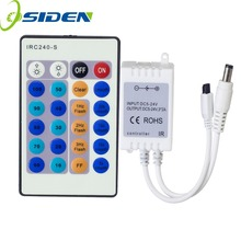 OSIDEN Wireless 24Keys 3*2A RF IR Remote Controller For Single Color 3528 5050 2835 5630 3014 LED Strip Lights DC5-24V IRC240-S(China)