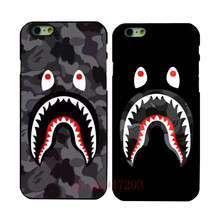 The phone is under the protection of camouflage sharks Black Hard Shell  For Apple iphone  4  4s 5 5s SE  5c 6 6S 6PLUS 7 7PLUS