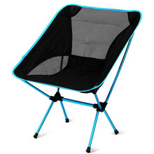 Buy Folding Chair Beach Seat Lightweight Seat Hiking Fishing Picnic Barbecue Vocation Casual Camping Fishing Deep Blue for $90.86 in AliExpress store