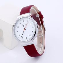 Simpel Design Watch Women Fashion PU Leather Strap Business Watches Lady Clock Reloj Mujer Roman Number Quartz Analog Watch #N