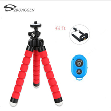 Mini Camera Phone Holder Flexible Octopus Tripod Bracket Stand Holder Mount Monopod Styling Accessories + Bluetooth