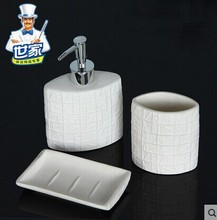 Family of new bone  Ceramics Fashion Three-piece bathroom  Single dedicated  Ceramic Bathroom Set  Toiletries Genuine