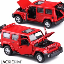 1:32 Scale Jeep Wrangler Off-road Vehicle Car-styling Simulation Alloy Car Collection Diecast Metal Auto Model For Kids Toys(China)