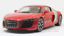 Red Kyosho 1:18 Car Model New Audi R8 V10 5.2 FSI Sport Car Super Sport Car Coupe Alloy Miniature Toys