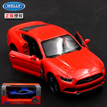 1pc 1:36 11.5cm delicacy WELLY Ford mustang GT sports car alloy model home collection decoration boy toy gift(China)