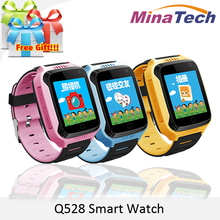 2017 New Q528 Y21 Touch Screen Kids GPS Watch with Camera Lighting Smart Watch Sleep Monitor GPS SOS Baby Watch PK Q750 Q100