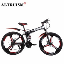 Altruism X9 Pro 21 Speed Mountain Bike Steel Folding Bicycles Brand Bikes 24 inch Magnesium alloy Wheels Frame Black - Global Store store