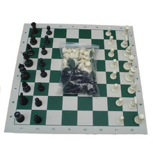 Plastic Resin International Chess Set With Chessboard King High 77mm/ 64mm Chessboard Size 43CM/35CM Family Party Fun Board Game