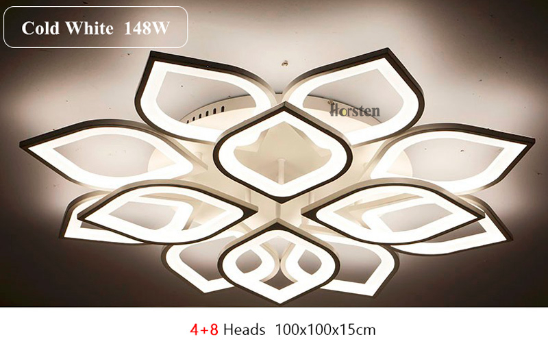 Horsten Remote Control Modern LED Ceiling Lights For Living Room Bedroom Acrylic Ceiling Lamps Flower Design Celing Lamp 90-260V (17)
