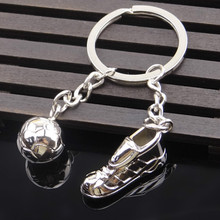 Creative Soccer Keychain Sports Shoes Metal Keychain Pendant World Cup Soccer Team Gift