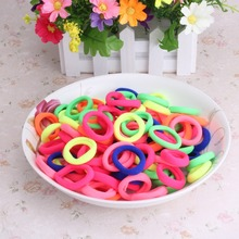 1pack=12/90pcs Rubber Headbands Bands Children Colorful Hair Band Baby Elastic Rope Gum for Hair Girl Cute Hair Accessories