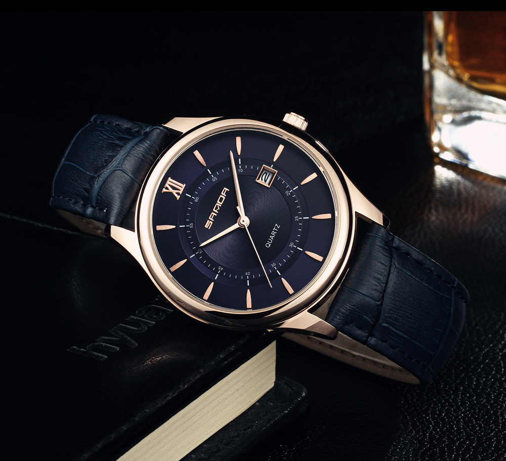 Fashion Simple Leather Mens Watches Quartz Wrist Watch Top Brand Luxury Business Waterproof Male Watches Men Relogio Masculino
