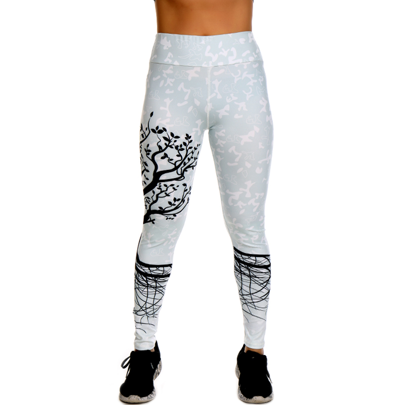 Yoga Leggings Tree Printed Dry Fit Sports Tights for Women 10